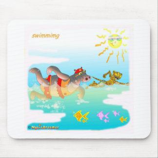 Cool swiiming gifts for kids mouse pad