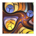 Cool Swirling Abstract Wrapped canvas