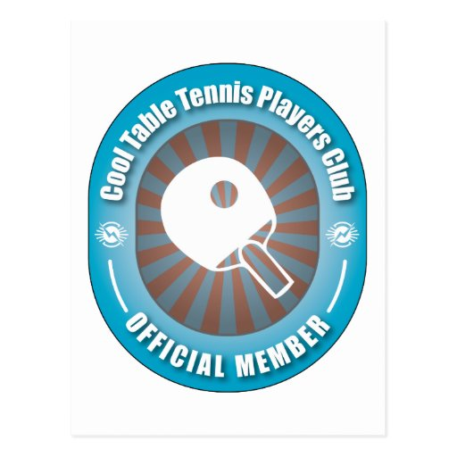 Cool Table Tennis Players Club Post Cards