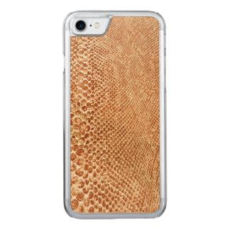 Cool Tan Snake Skin Pattern Photo Print Carved iPhone 7 Case