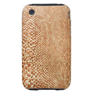 Cool Tan Snake Skin Pattern Photo Print iPhone 3 Tough Covers