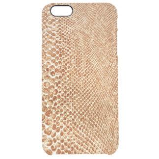 Cool Tan Snake Skin Pattern Photo Print iPhone 6 Plus Case