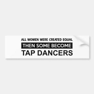 Cool Tap Dancing designs Bumper Sticker