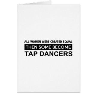 Cool Tap Dancing designs Greeting Card