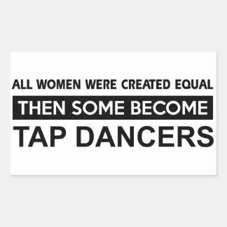 Cool Tap Dancing designs Rectangular Sticker