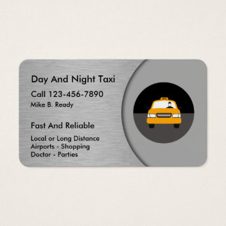 Cool Taxi Business Cards