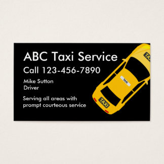 Cool Taxi Service Businesscards Business Card