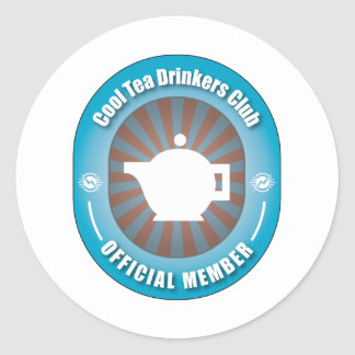 Cool Tea Drinkers Club Round Sticker