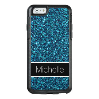 Cool Teal Glitter Stylish OtterBox iPhone 6 Case