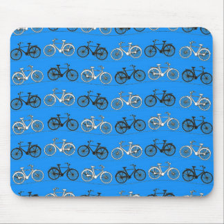 Cool Teal Turquoise Blue Vintage Bicycles Bikes Mouse Mat