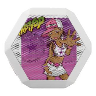 Cool Teen Hip Hop Rapper Pink and Purple Cartoon