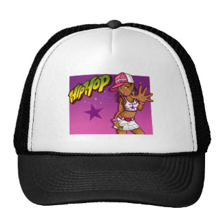 Cool Teen Hip Hop Rapper Pink and Purple Cartoon Cap