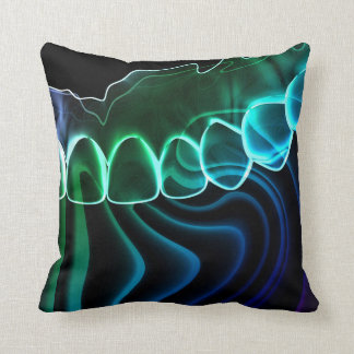 Cool Teeth Graphic Art Dentist Pillow
