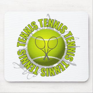 Cool Tennis Emblem Mouse Pad