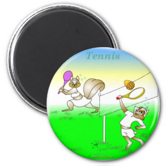 Cool tennis gifts for kids 6 cm round magnet