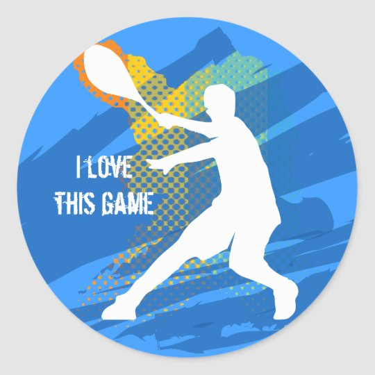 Cool tennis sticker: I love this game Classic