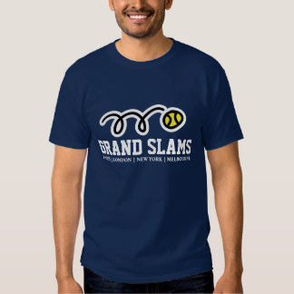 Cool tennis t-shirt with all Grand Slam cities