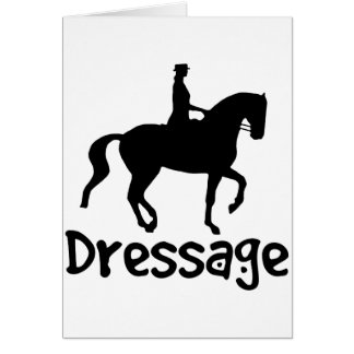 Cool Text Dressage w/ Piaffe Horse Card