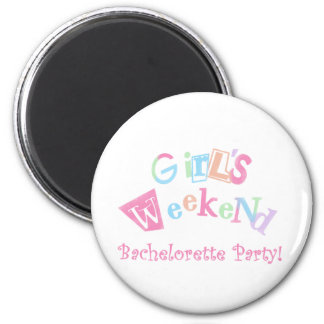 Cool Text Girls Weekend Bachelorette Party Fridge Magnets