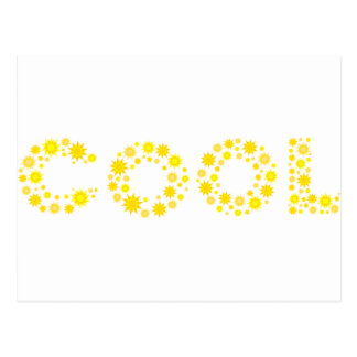 Cool text made with yellow illustration. postcard