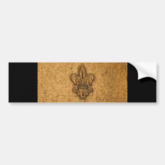 Cool Textured Fleur-de-Lis Pattern Bumper Sticker