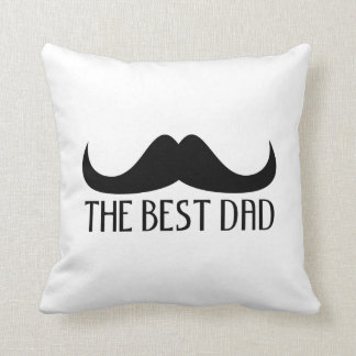 Cool The best Dad Black Moustache Father's Day Pillow