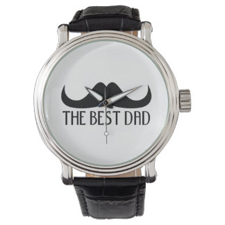 Cool The best Dad Black Moustache Father's Day Wristwatches