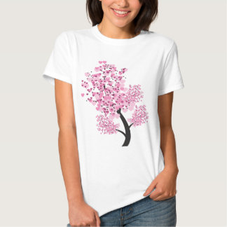 Cool Think Green Tree Remix Think Pink Hearts Art Tees