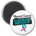 Cool Thyroid Cancer Survivor 6 Cm Round Magnet