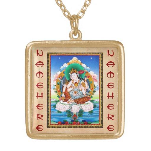 Cool tibetan thangka Cintamanicakra Avalokitesvara Necklaces