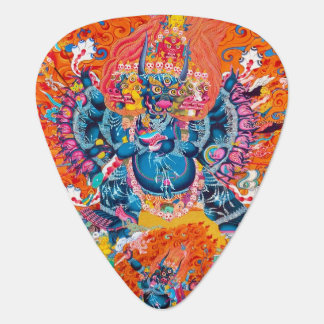 Cool tibetan thangka god mandala tattoo art guitar pick
