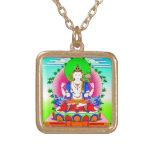 Cool tibetan thangka Shadakshari Avalokiteshvara Pendants