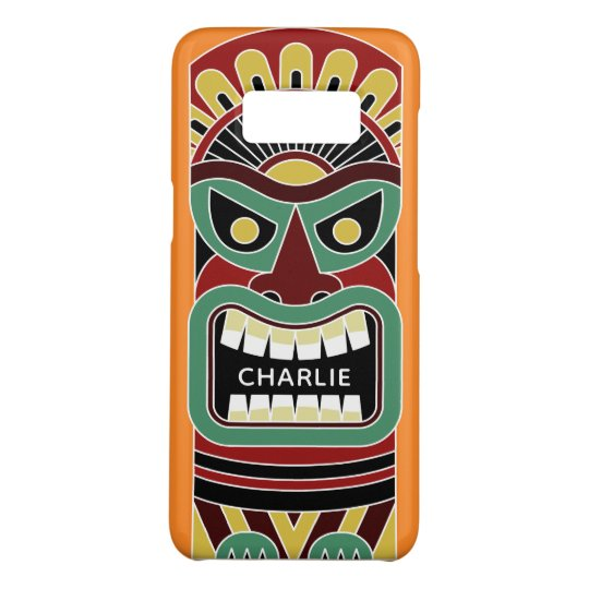 Cool Tiki Totem custom name & colour phone cases