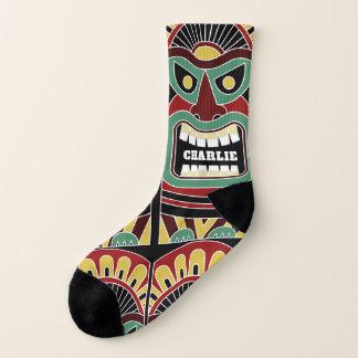 Cool Tiki Totem custom name socks 1