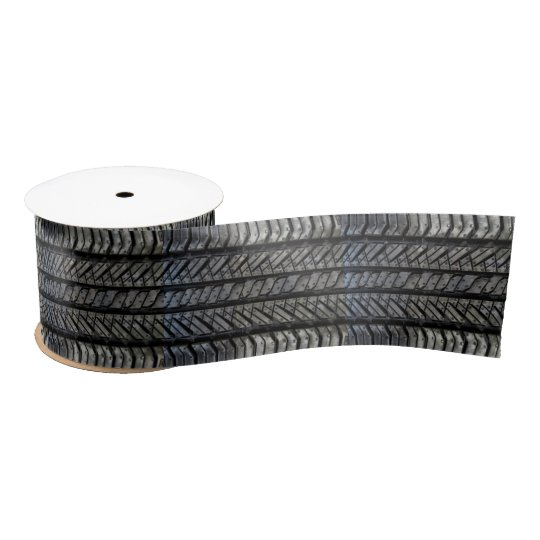 Cool Tire Rubber Automotive Texture Decor Satin Ribbon