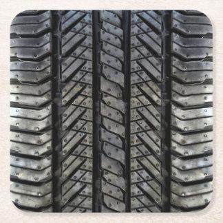 Cool Tire Rubber Automotive Texture Decor Square Paper Coaster