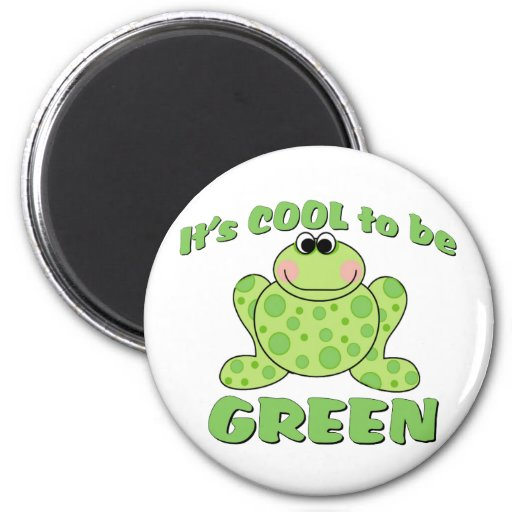 Cool to be Green FROG Refrigerator Magnets