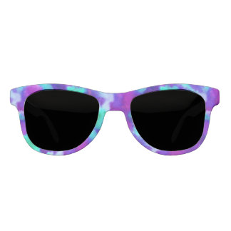 Cool Toned Watercolor Pattern in Purple & Teal Sunglasses