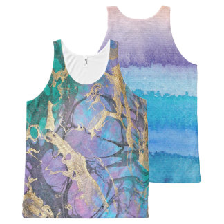 Cool Tones All-Over Print Tank Top