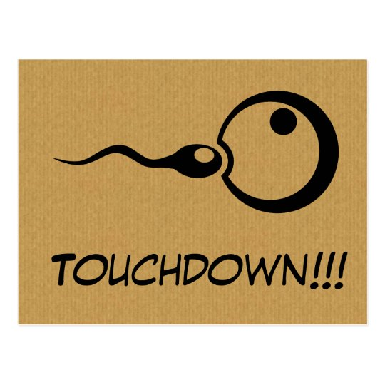 Cool Touchdown pregnancy postcard