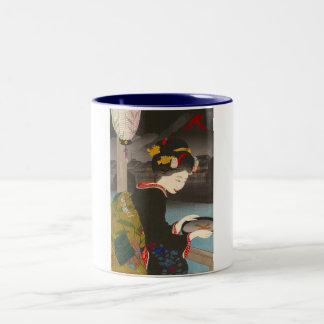 Cool traditional japanese woodprint classic geisha coffee mugs