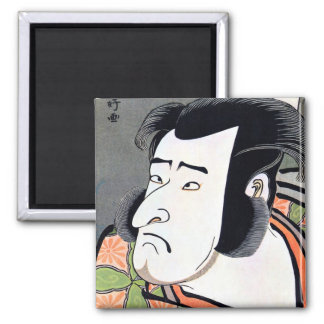 Cool Traditional Oriental Japanese Samurai tattoo Square Magnet