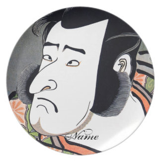 Cool Traditional Oriental Japanese Samurai tattoo Party Plate