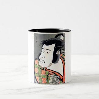 Cool Traditional Oriental Japanese Samurai tattoo Two-Tone Mug