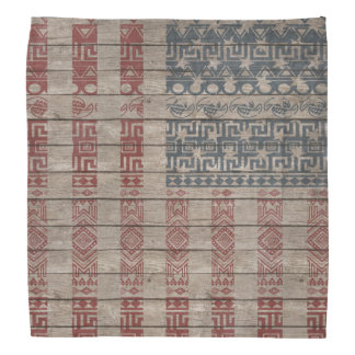 Cool trendy America flag Aztec tribal pattern Bandanas