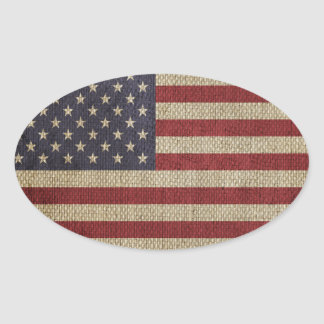 Cool trendy America flag Oval Sticker