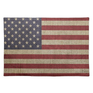 Cool trendy America flag Placemats