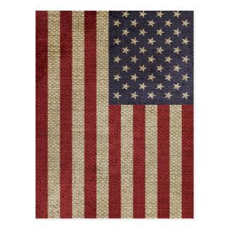 Cool trendy America flag Postcard