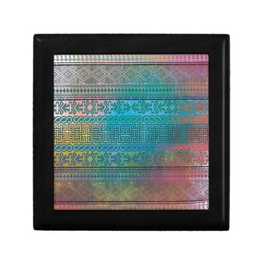 Cool trendy Aztec geometric pattern colourful Gift Box