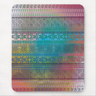 Cool trendy Aztec geometric pattern colourful Mouse Mat